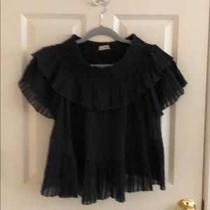 Ulla Johnson Kasia cotton gauze blouse size 2
